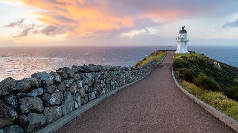 Cape Reinga Lighthouse, North Island, New Zealand.