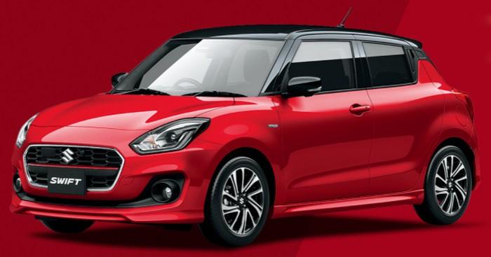2020 Suzuki Swift facelift colours