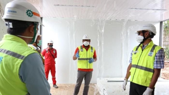 Pembangunan RS Corona di Lapangan Bola Simprug Usai