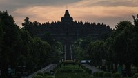 Nantinya, wisatawan yang berkunjung ke Borobudur harus melalui cek suhu badan dan diberi penanda stiker.