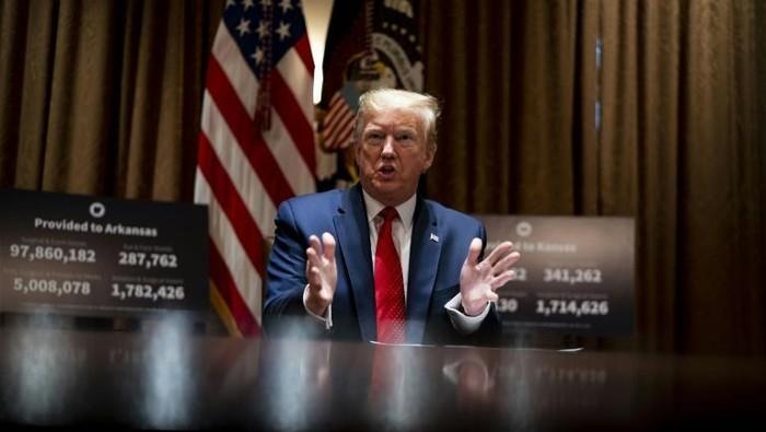 Presiden AS Donald Trump dorong acara tahunan G7 sebagai tanda normalisasi (AFP Photo/Pool)