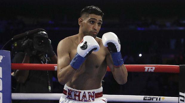Amir Khan mantan juara dunia kelas welter WBC. (Al Bello/Getty Images/AFP)