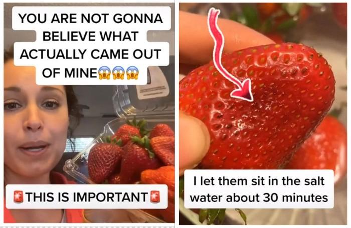 cara mencuci strawberry