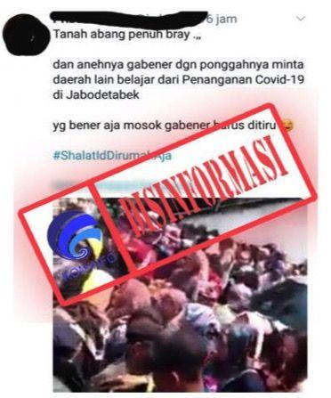 Video hoax Pasar Tanah Abang.