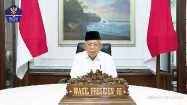 Wakil Presiden RI, Ma'ruf Amin (Youtube BNPB Indonesia)