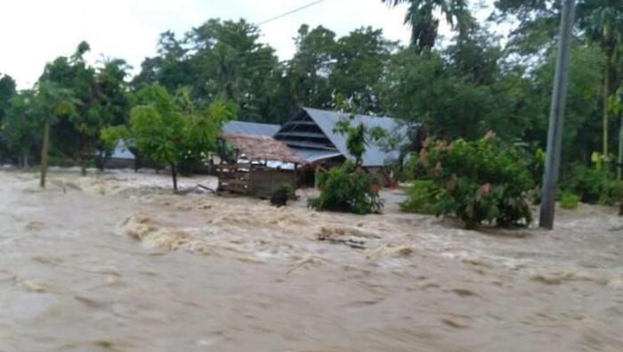 Tanggul Jebol, 5 Desa di Luwu Sulsel Terendam Banjir