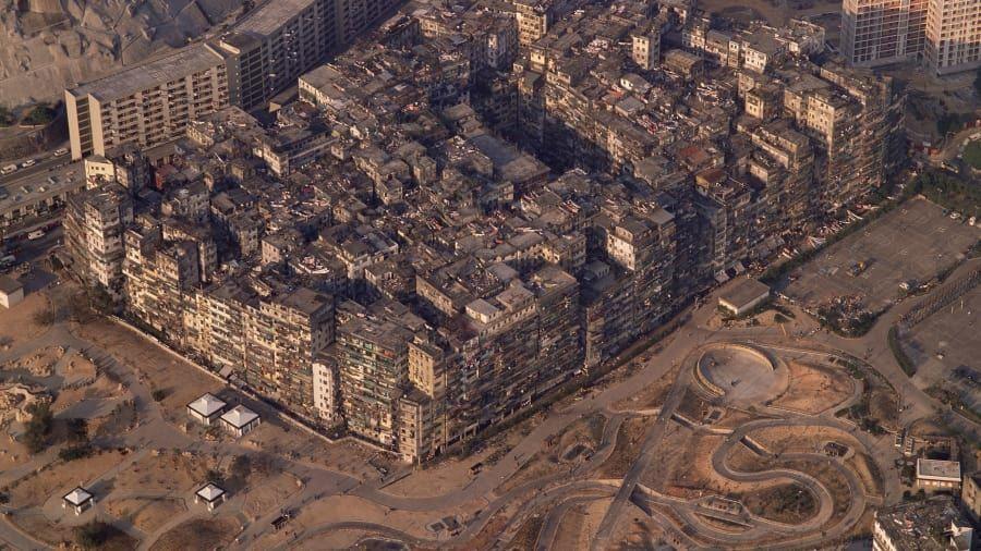 Rumah bertumpuk di Kowloon Walled City