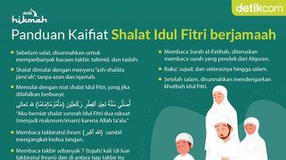 Panduan Kaifiat Sholat Idul Fitri Berjamaah, Bisa Dilakukan di Rumah