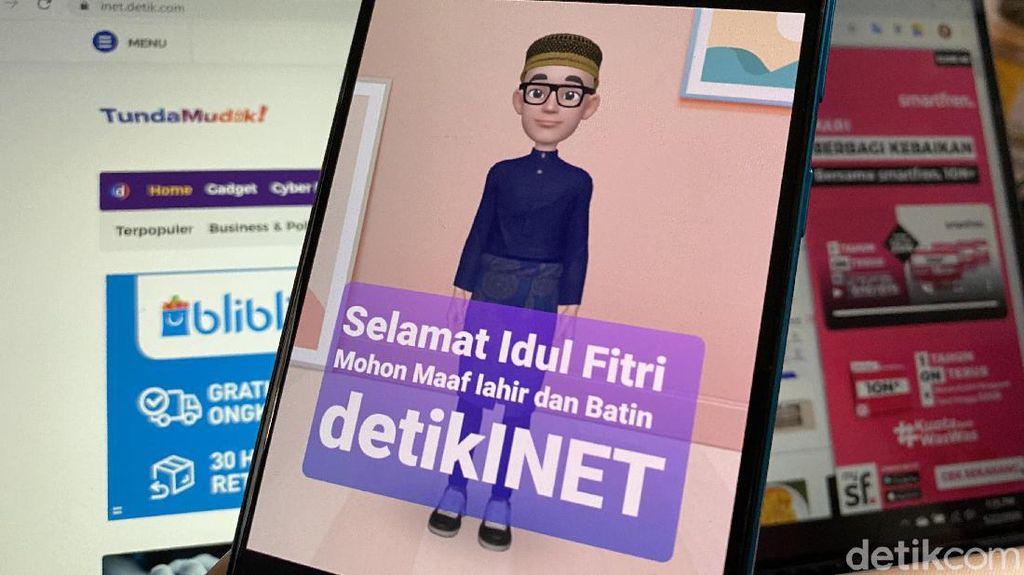 Yuk Bikin Kartu Ucapan Lebaran Pakai Emoji AR di Galaxy M21
