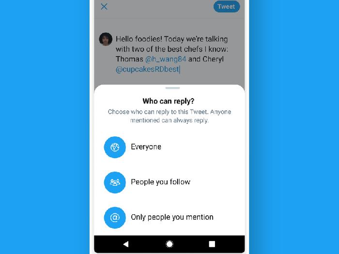 Fitur baru Twitter batasi balasan cuitan