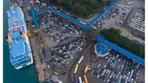 Potret Pelabuhan Merak Sebelum dan Saat Pandemi Corona