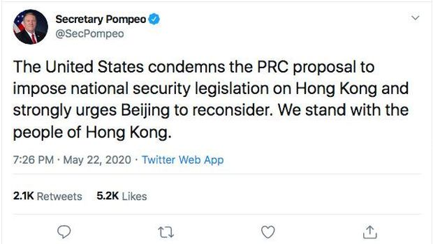 Twit Mike Pompeo (Twitter @SecPompeo)