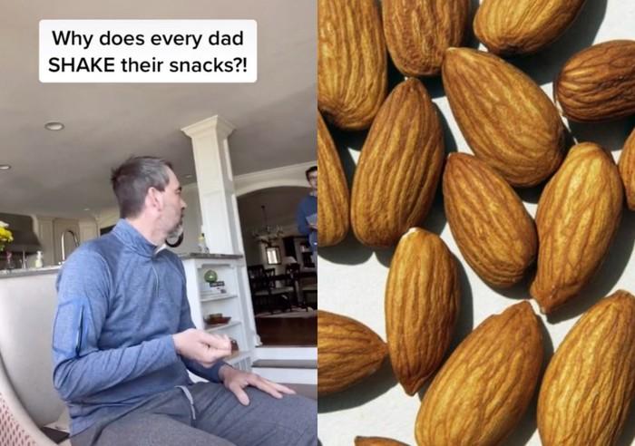 Kebisaan goyangkan tangan sebelum makan kacang