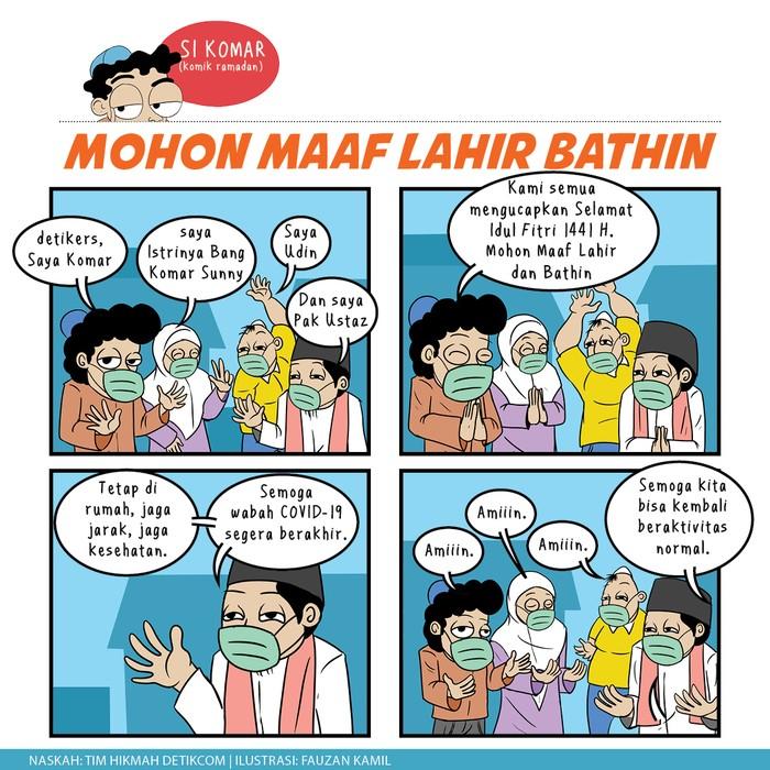 Selamat Idul Fitri 1441 H Mohon Maaf Lahir Bathin, Komar