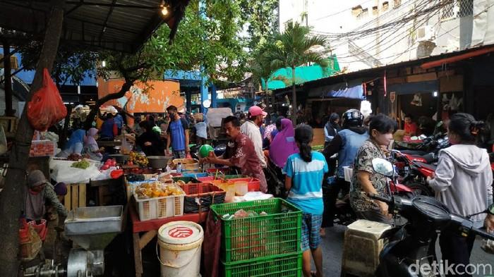 Kondisi Pasar Palmerah Jakarta jelang Lebaran