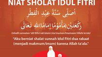 Niat Sholat Idul Fitri untuk Imam atau Makmum