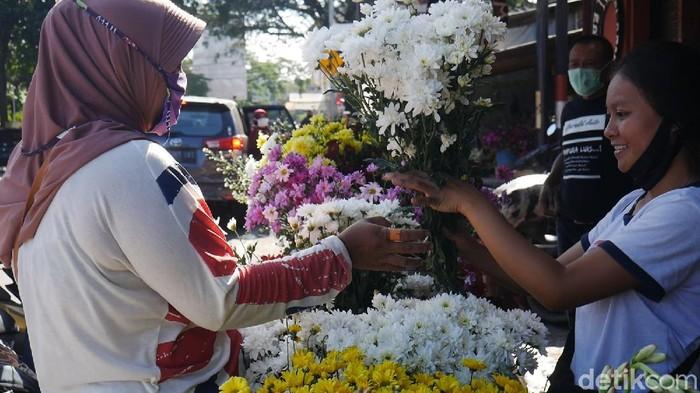Penjual Bunga Hias di Cimahi