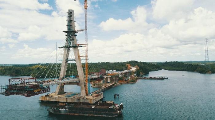Jembatan Pulau Balang II di Kalimantan Timur
