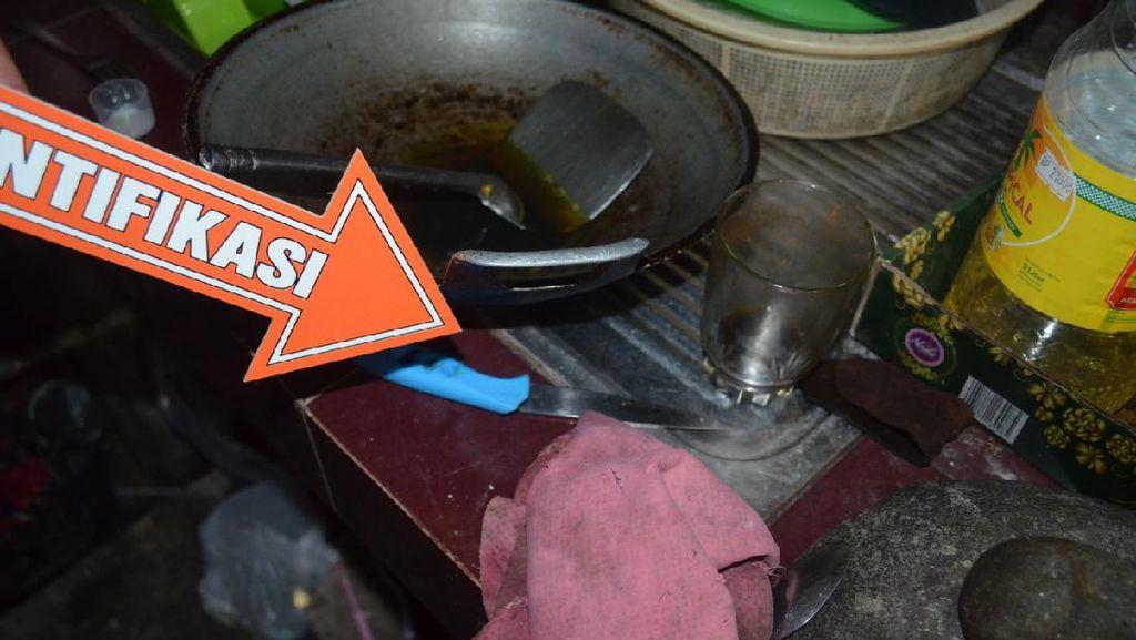 Penampakan Pisau Dapur yang Dipakai Kakak Bunuh Adik di Garut