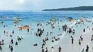 Viral Pantai Bira Ramai Pengunjung Hari Pertama Setelah Lebaran, Benarkah?