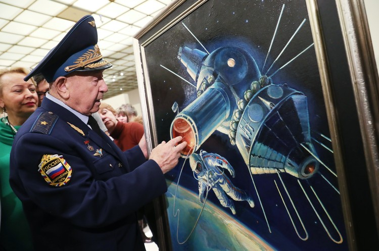 RUSSIA - MARCH 20:  Model (scale 1:6). On 12 April 1961, Soviet cosmonaut Yuri Alekseyevich Gagarin (1934-1968), was launched into orbit by a Vostok rocket and became the first man in space. After completing one orbit, the automatic controls of the spacecraft brought him safely back to Earth.  (Photo by SSPL/Getty Images)