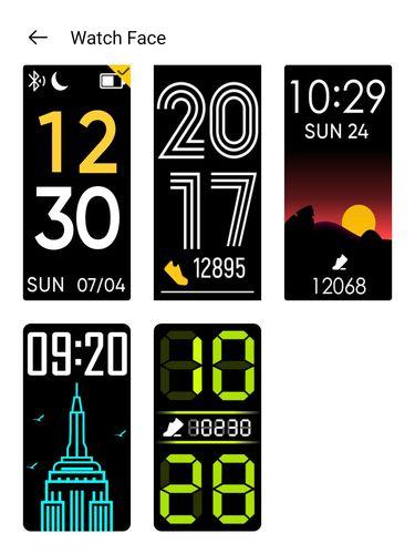 Pilihan watch face di Realme Link