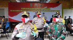 Cegah Corona, Polda Kalteng Gelar Rapid Test Massal di Pasar Kahayan