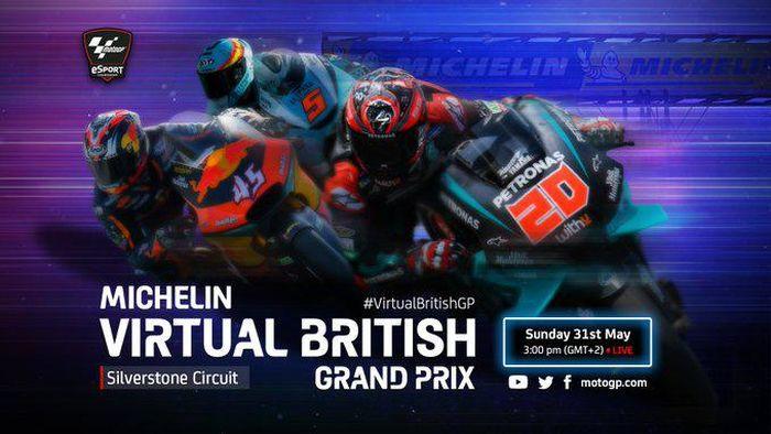 MotoGP Virtual Race seri Silverstone Inggris 31 Mei 2020