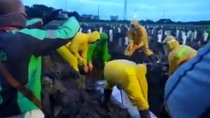 viral ojol datangi pemakaman protap corona