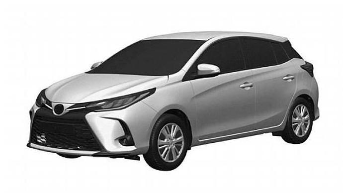 Gambar paten Toyota Yaris 2021