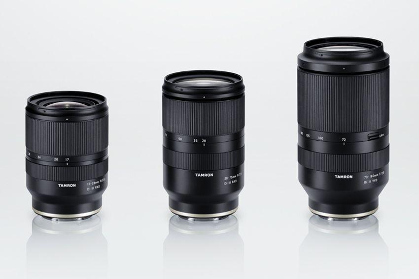 Dari kiri ke kanan: Tamron 17-28mm f/2.8, 28-75mm f/2.8 dan 70-180mm f/2.8.