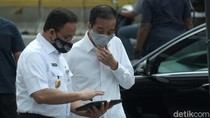 Duet Jokowi-Anies, Tinjau Stasiun MRT Persiapan New Normal