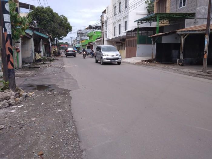 Jalan GB Joshua Medan setelah diperbaiki (Datuk Haris Molana-detikcom)