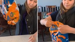 Tanpa Karet, Wanita Ini Beri Tips Praktis Tutup Bungkus Plastik Camilan
