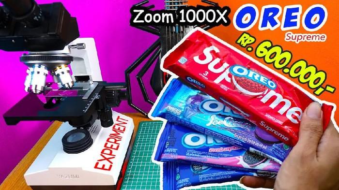 zoom makanan dan minuman mikroskop