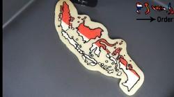 Keren Banget! Pria Ini Bikin Pancake Gambar Peta Indonesia