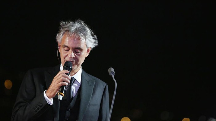 ROME, ITALY - SEPTEMBER 06:  Andrea Bocelli attends at the Rooftop Dinner at the Waldorf Astoria Hotel Cavalieri as part of the 2017 Celebrity Fight Night in Italy Benefiting The Andrea Bocelli Foundation and the Muhammad Ali Parkinson Center on September 6, 2017 in Rome, Italy.  (Photo by Jonathan Leibson/Getty Images for Celebrity Fight Night)