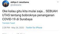 Viral Tweet Soroti Penanganan COVID-19 di Surabaya, ini Penjelasan Pemkot