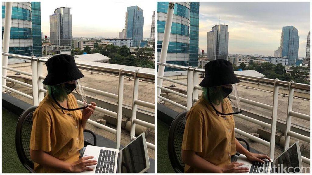 Tren Pakai Face Shield di Era New Normal, Efektif Cegah Corona?