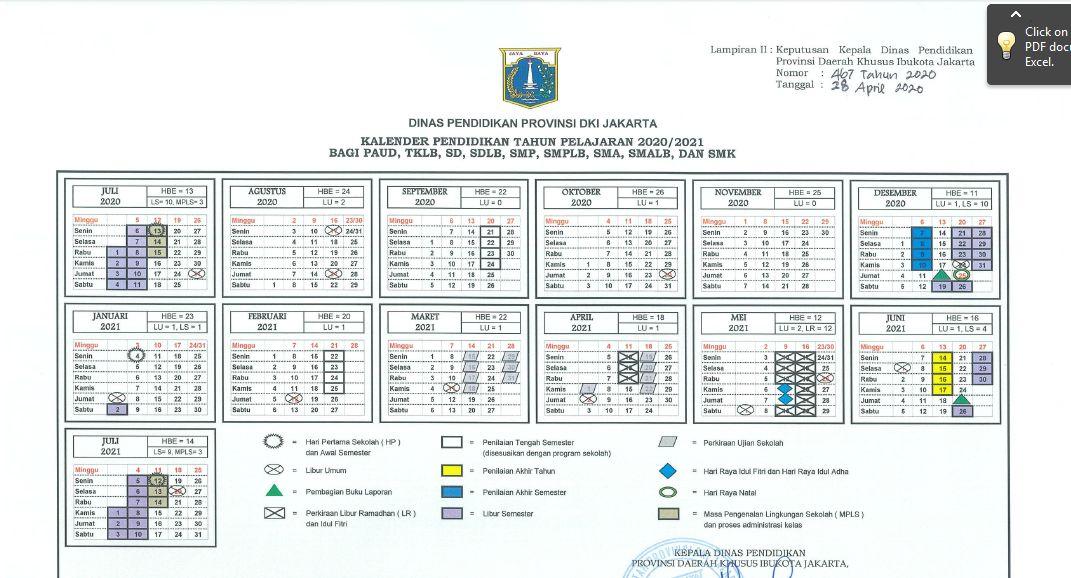 Kalender Pendidikan Sekolah