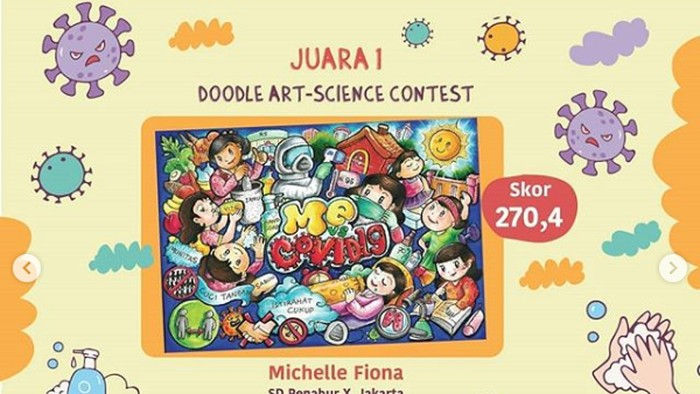 Setelah menyelenggarakan Doodle Art - Science Contest untuk siswa SD bertema COVID-19, Pusat Peragaan IPTEK bakal membuka lomba untuk pelajar SMP, SMA, hingga TK dan usia dini.