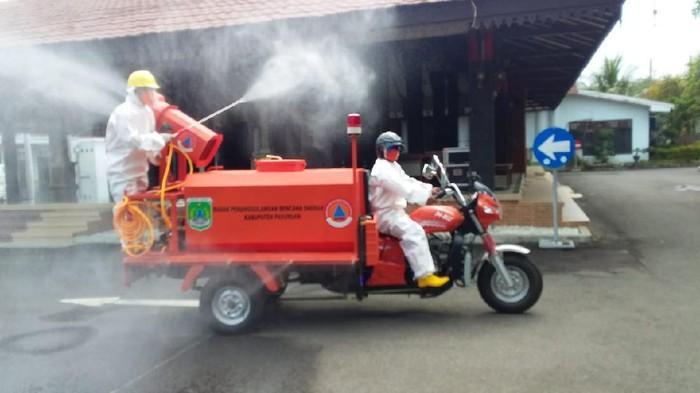 Disinfeksi rutin dilakukan di wilayah Kabupaten Pasuruan
