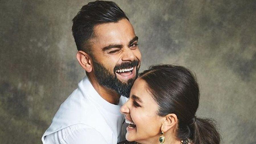 Anushka Sharma dan suaminya.