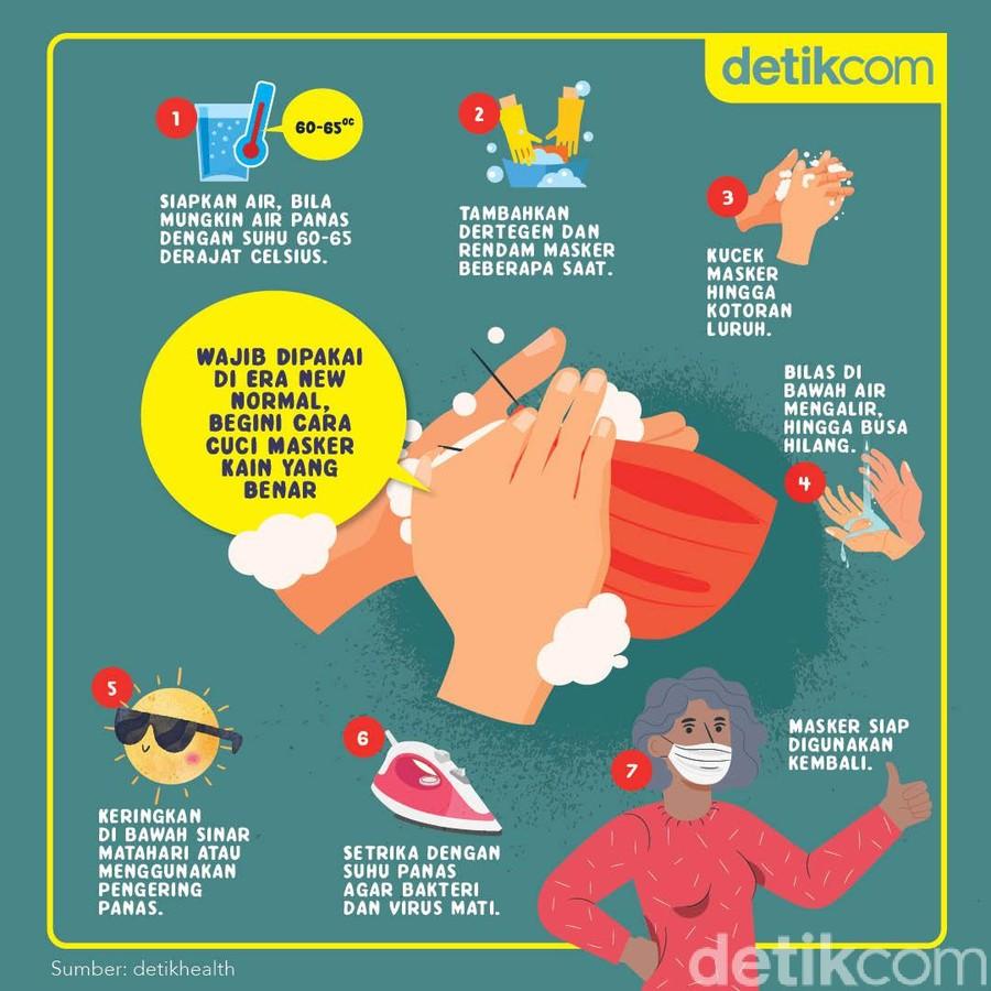 tips cuci masker kain