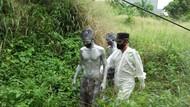 10 Manusia Silver Diamankan Satpol PP Tangsel, Ada yang Kabur ke Semak-semak