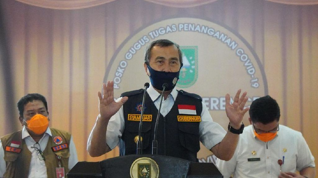 Gubernur Riau Syamsuar Positif Corona