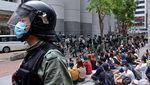 Polisi Hong Kong Amankan Pendemo RUU Lagu Kebangsaan China