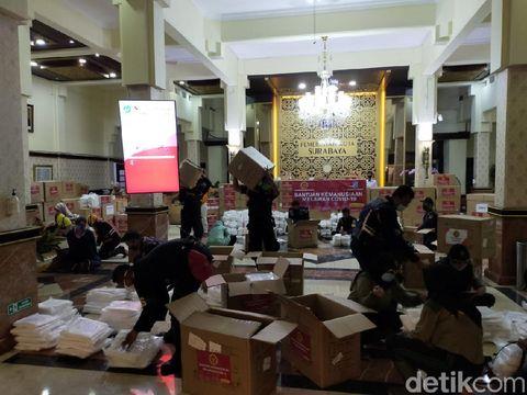 Bantuan APD dari Badan Intelijen Negara (BIN) untuk Surabaya/