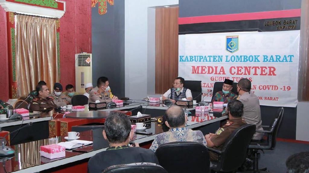 Keliling NTB, Gubernur-Kapolda Bahas Upaya Disiplinkan Warga Cegah Corona