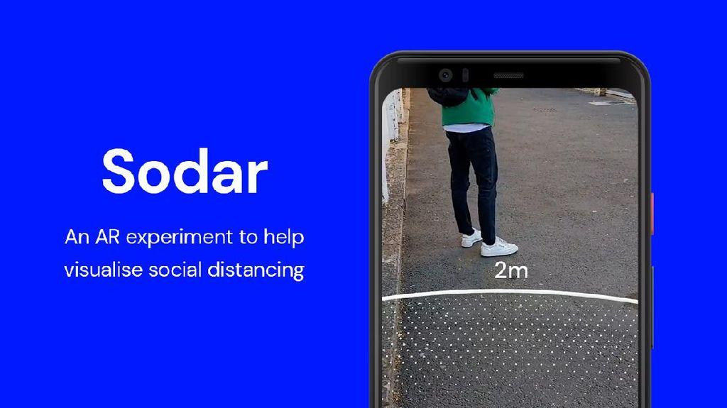 Google Bikin Panduan Visualisasi Pembatasan Sosial Pakai AR
